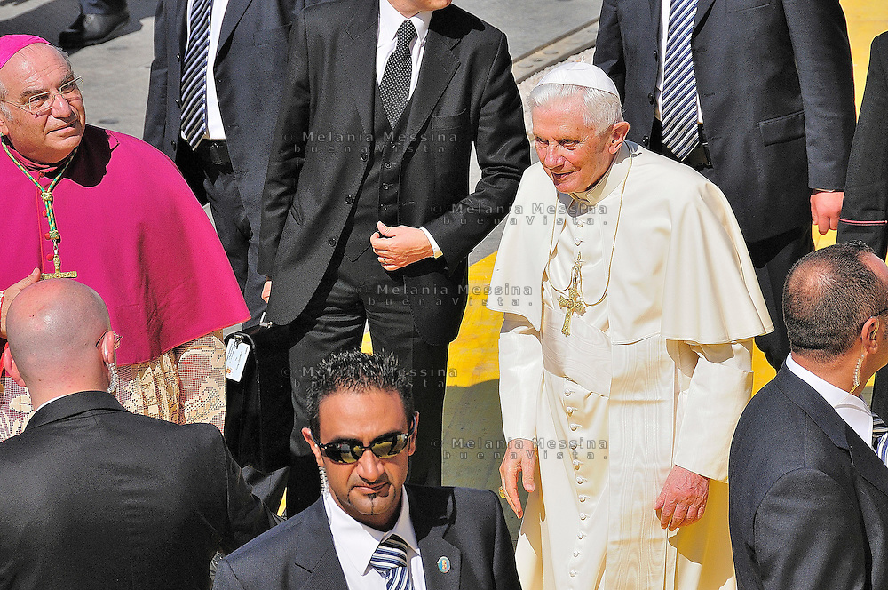 The Pope visit in Palermo.