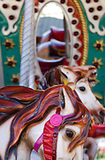 Detail of carousel horses at the Blue Hill Fair, Maine.
