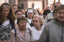 June 18, 2017 - Hradec Kralove, Hradec Kralove, Czech Republic - HRADEC KRALOVE, CZECH REPUBLIC - JUNE 18:  Hundreds of Czech catholics attend the Corpus Christi celebrations, Hradec Kralove, Czech Republic on June 18, 2017. (Credit Image: © Omar Marques/Pacific Press via ZUMA Wire)