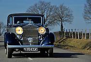 22/02/12 - CHAROLLES - SAONE ET LOIRE - FRANCE - Essais ROLLS ROYCE  PHANTOM III, Carrosserie BINDER de 1937 - Photo Jerome CHABANNE