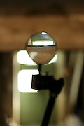 magnifying glass inside a room