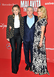 L-R - Michelle Pfeiffer, Robert de Niro and  Dianna Agron attend the 'Malavita - The Family' Germany premiere at Kino in der Kulturbrauerei, Berlin, Germany on October 15, 2013. Picture by Schneider- Press / i-Images<br /> UK & USA ONLY