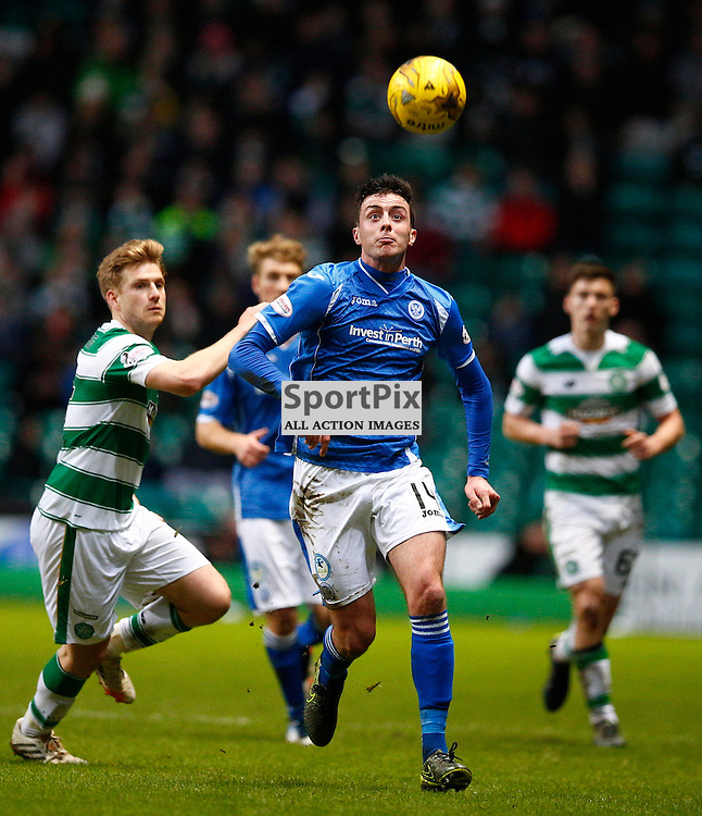 Celtic v St.Johnstone in the Ladbrokes Premiership....Joe Shaughnessy being hunted down by several Celtic players .....(c) STEPHEN LAWSON | SportPix.org.uk