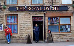 BURNLEY, ENGLAND - Thursday, August 16, 2018: The Royal Dyche pub near Burnley's stadium before the UEFA Europa League Third Qualifying Round 2nd Leg match between Burnley FC and İstanbul Başakşehir at Turf Moor. (Pic by David Rawcliffe/Propaganda)