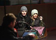 cheryl tweedy and take that at a fair ground in central london.15.12.06<br /> pix