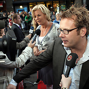 NLD/Amsterdam/20080901 - Premiere film Bikkel over het leven van Bart de Graaff, Patrick Lodiers en Irene Moors worden geinterviewd