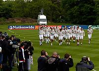 Photo: Richard Lane.<br />England Training Session. 22/05/2006.<br />The England players warm up.