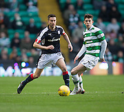 Dundee's Cammy Kerr and Celtic's Ryan Christie - Celtic v Dundee in the Ladbrokes Scottish Premiership at Celtic Park, Glasgow. Photo: David Young<br /> <br />  - © David Young - www.davidyoungphoto.co.uk - email: davidyoungphoto@gmail.com