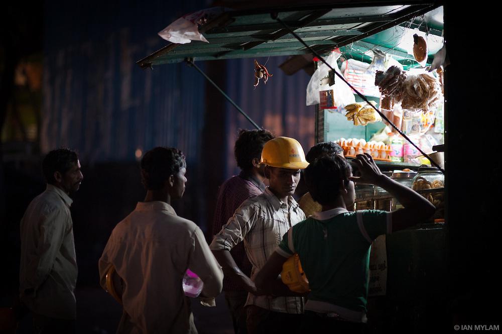 Roadside Food Stall at Dusk - Chennai, India