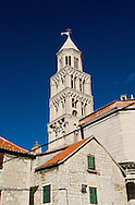 Cathedral (originally Diocletian's maosoleum) and bell tower with surrounding houses, Diocletian's Palace, Split, Croatia