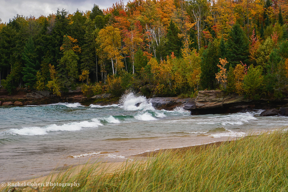 &quot;Autumn Color and Waves&quot;<br />