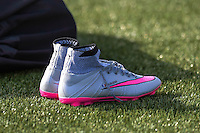 Illustration chaussures Mathieu Valbuena - 01.06.2015 - Entrainement -Equipe de France -Clairefontaine<br /> Photo : Andre Ferreira / Icon Sport