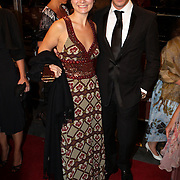 NLD/Amsterdam/200801010 - Premiere Sunset Boulevard, Celine Purcell en partner Oren Schrijver