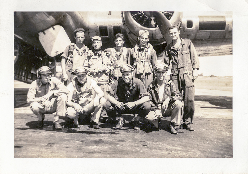Lt. Swenson (front row, second from left) and his crew.