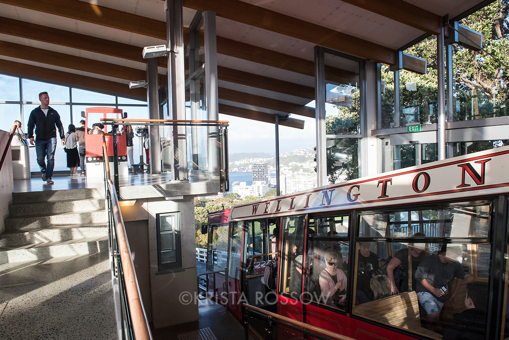 The Wellington Cable Car is a funicular railway which connects Lambton Quay to the Wellington Botanic Garden in Kelburn.