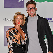 Gabby Allen  and Ethan Allen attend Spectacle Wearer of the Year 2018 at 8 Northumberland avenue, on 23 October 2018, London, UK.