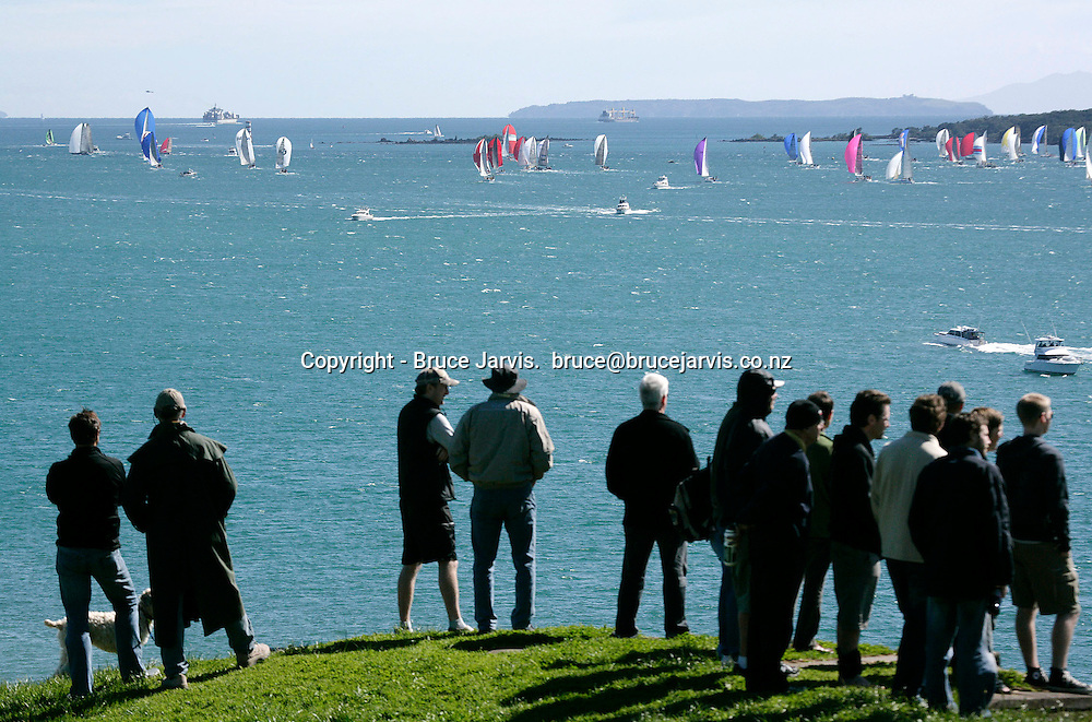 A general view of the HSBC Coastal Classic, Auckland to Russell yacht race. Hauraki Gulf, Auckland, New Zealand. Friday 19 October 2007. Photo: Bruce Jarvis/PHOTOSPORT