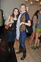 Left to right, HANNAH GOLANSKI and ALEXA PEARSON at an exclusive preview of fashion label Fay latest collections held at 21 Collingham Road, London SW5 on 12th June 2012.