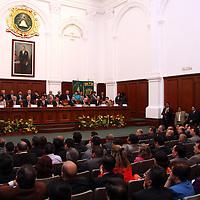Toluca, México.- Aspectos generales durante la ceremonia de clausura del Sexto Congreso Nacional de Sindicatos Universitarios. Agencia MVT / Arturo Rosales Chávez. (DIGITAL)