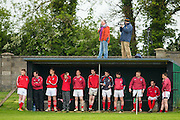 Clonard vs Drumconrath, Junior Football Championship at Sean Newman Park, Bohermeen, Saturday 24th May 2014<br /> Clonard substitutes look on, as the match is broadcast from the roof<br /> Photo: David Mullen / www.cyberimages.net &copy; 2014