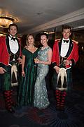 CAPT. ANTHONY WHELAN;  ISELIN ASLUKSTROM; CAPT. MATTHEW RUPASINHA; MARIKA PSENNAJA, The Royal Caledonian Ball 2017, Grosvenor House, 29 April 2017