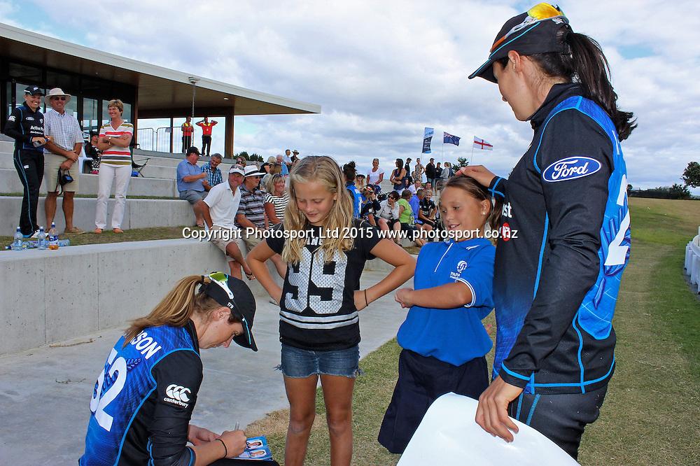 1st one day international, womens cricket match at Bay Oval, Mt Maunganui, 11 February 2015. Copyright Photo: Margot Butcher / www.photosport.co.nz