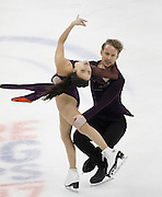 Madison Chock and Evan Bates perform during the free dance competition at the U.S. Figure Skating Championships Saturday, Jan. 21, 2017, in Kansas City, Mo. (AP Photo/Colin E. Braley)
