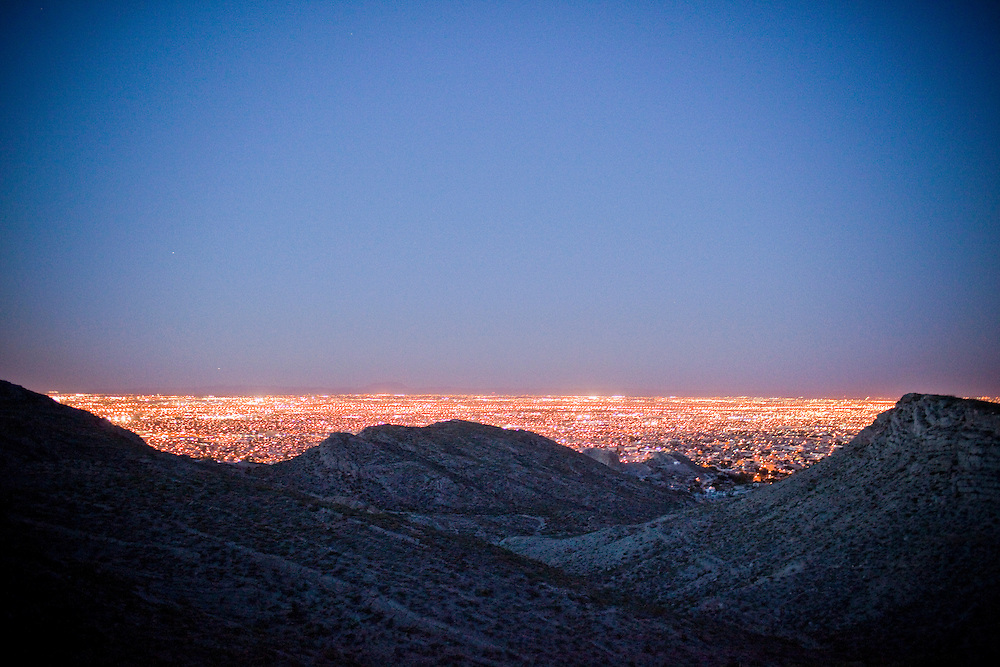 View of the city from the mountains in Ciudad Juarez, Chihuahua on May 22, 2010.