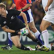 Andy Ellis, New Zealand,  in action during the New Zealand V France Final at the IRB Rugby World Cup tournament, Eden Park, Auckland, New Zealand. 23rd October 2011. Photo Tim Clayton...