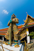 Guardian statues, Grand Palace, Bangkok, Thailand