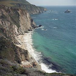 Next to the Bixby Bridge. On the drive from San Francisco to Los Angeles along the PCH, Pacific Coast Highway, CA. Shot on Ektar 100 medium format film with a 1960's Rolleiflex Camera.