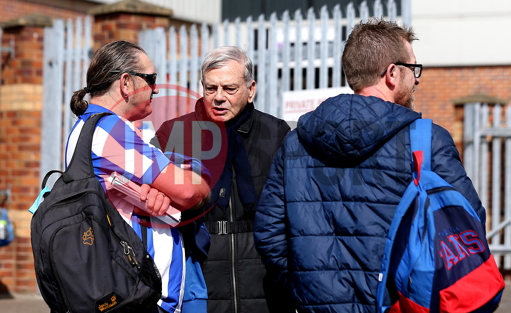 Former Cricket Umpire Dickie Bird chats with Sheffield Wednesday before the Sky Bet Championship fixture of his beloved Barnsley side - Mandatory by-line: Robbie Stephenson/JMP - 01/04/2017 - FOOTBALL - Oakwell Stadium - Barnsley, England - Barnsley v Sheffield Wednesday - Sky Bet Championship