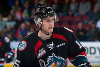 KELOWNA, CANADA - SEPTEMBER 28: Tomas Soustal #15 of Kelowna Rockets skates against the Prince George Cougars on September 28, 2016 at Prospera Place in Kelowna, British Columbia, Canada.  (Photo by Marissa Baecker/Shoot the Breeze)  *** Local Caption *** Tomas Soustal;