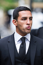 © London News Pictures. 02/05/2013. London, UK. Costas Panayiotou, son of Property tycoon Andreas Panayiotou arriving at Southwark Crown Court.   Costas and his brother George Panayiotou received a 15-month sentence suspended for 18 months for an attack on two off-duty policemen on a night out, which left of the off-duty officers one needing titanium plates in his cheek and eye socket. Photo credit: Ben Cawthra/LNP<br /> <br /> Read more: http://www.dailymail.co.uk/news/article-2618831/Judge-blasts-sons-one-Britains-richest-tycoons-cowardly-vicious-attack-left-police-officer-needing-titanium-plates-lets-walk-FREE-court.html#ixzz30a8skGmd <br /> Follow us: @MailOnline on Twitter | DailyMail on Facebook<br /> <br /> Read more: http://www.dailymail.co.uk/news/article-2618831/Judge-blasts-sons-one-Britains-richest-tycoons-cowardly-vicious-attack-left-police-officer-needing-titanium-plates-lets-walk-FREE-court.html#ixzz30a7aQ300 <br /> Follow us: @MailOnline on Twitter | DailyMail on Facebook. Photo credit: Ben Cawthra/LNP