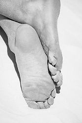 detail of a man's feet