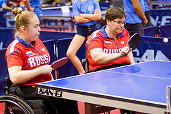 (Team RUS) VASILEVA Aleksandra and POPOVA Ekaterina in action during 15th Slovenia Open - Thermana Lasko 2018 Table Tennis for the Disabled, on May 10, 2018 in Dvorana Tri Lilije, Lasko, Slovenia. Photo by Ziga Zupan / Sportida