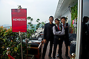 Singapore - Waitresses of the Lounge Club Restaurant by the Marina Bay Sands.