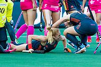 BREDA -  Margot Van Geffen (Ned) heeft de stand op 3-1 gebracht    tijdens Nederland-Japan (4-1)  bij de 4 Nations Trophy dames 2018 .    COPYRIGHT KOEN SUYK