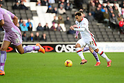 MK Dons striker Nicky Maynard during the Sky Bet Championship match between Milton Keynes Dons and Reading at stadium:mk, Milton Keynes, England on 16 January 2016. Photo by Dennis Goodwin.
