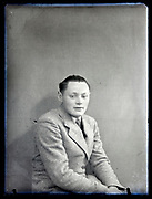 vintage portrait of an young man in suit France, circa 1930s