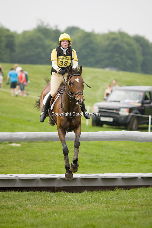 Grace Moran and Porthill Rusty Nail at   Bramham Horse Trials 2010