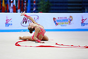 Bezzoubenko Patricia during qualifying at ribbon in Pesaro World Cup 11 April 2015.<br />