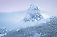 American Border Peak in winter, Mount Baker Wilderness North Cascades Washington