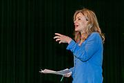 2019, June 04. JvE Studio, Almere, The Netherlands. Julia Scepanovic at the press presentation of Mammoet.