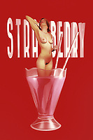 Is it refreshing to take a dip in a strawberry milkshake? Very few people can actually answer that question. It doesn't seem likely that the nude, beautiful woman depicted in this piece is going to give us any answers either. In the end, you could make the case that it probably doesn't matter. This is a powerful, engaging piece of fine art that combines a classic desert treat with the nude human form. The result is something that you have never quite seen in this form before. You can bring this one-of-a-kind piece into just about any space you can imagine.