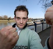 Putney. GREAT BRITAIN. CUBC 2007 cox Russell GLENN a Boxing Blue, at the  2007 Oxford and Cambridge University  Boat Race, Challenge and Crew Announcement. Winchester Club, London  12.03.2007,  [Photo Peter Spurrier/Intersport Images]...  [Mandatory Credit, Peter Spurier/ Intersport Images]. , Putney Embankment, [Hard]