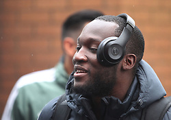 Romelu Lukaku of Manchester United arrives at Turf Moor ahead of the match wearing Beats By Dre Headphones - Mandatory by-line: Jack Phillips/JMP - 20/01/2018 - FOOTBALL - Turf Moor - Burnley, England - Burnley v Manchester United - English Premier League