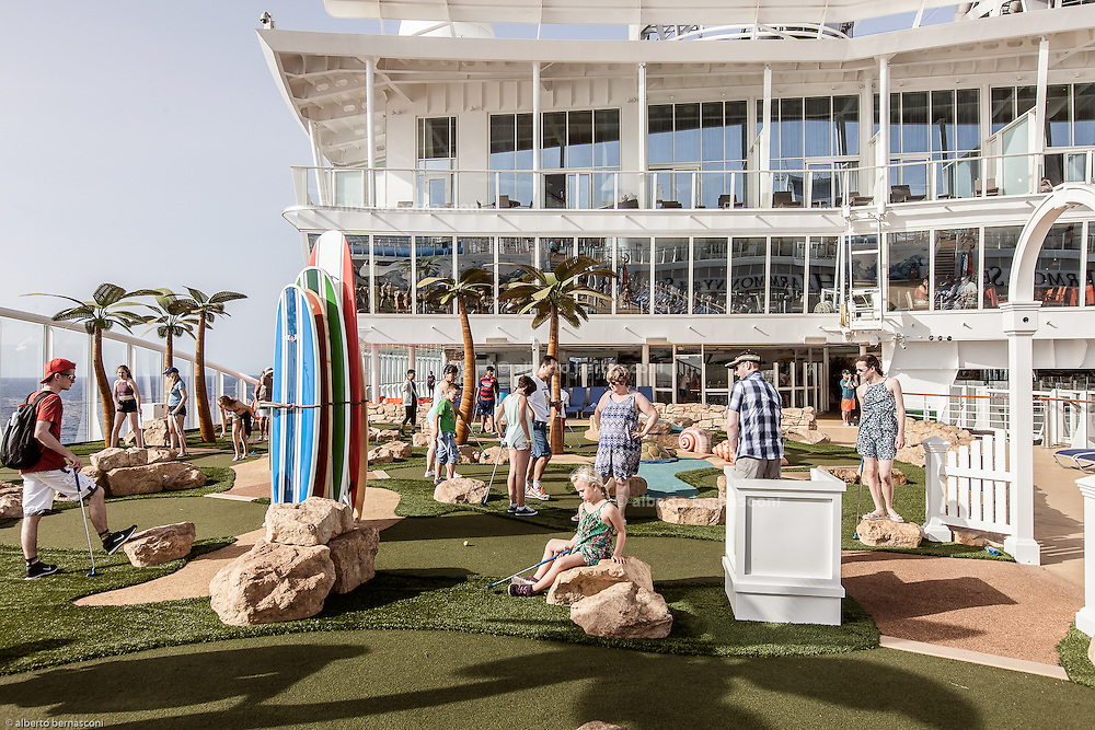 Royal Caribbean, Harmony of the Seas,  a nine-hole miniature golf course
