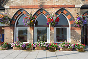 Pavillion in full bloom before Day 2 of the Specsavers County Champ Div 2 match between Gloucestershire County Cricket Club and Leicestershire County Cricket Club at the Cheltenham College Ground, Cheltenham, United Kingdom on 16 July 2019.