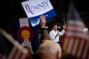 GOP presidential candidate Mitt Romney speaks at a campaign rally in Colorado Springs, Colorado, February 4, 2012.